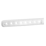 "On My Desk 990011 10.5"" Tri-Fold LED Desk or Wall-Mount Lamp 4 USB Charging Ports and Touch Sensor Dimmable Control White"