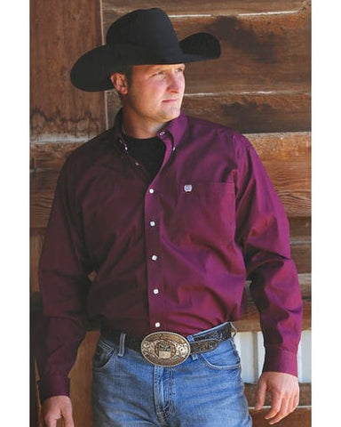 Mens Cinch Classic Fit Burgundy
