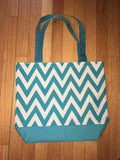 Blue Chevron canvas Tote