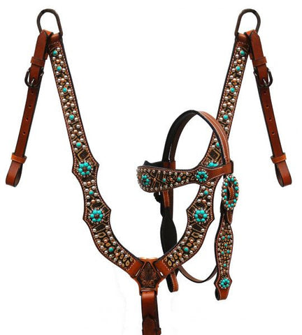 SST 85004 Alligator Print Headstall and breast collar set