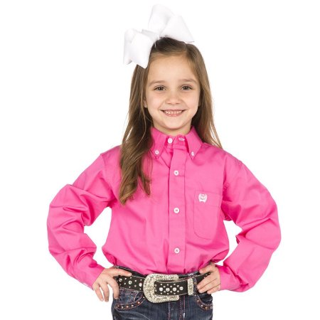 Kids Cinch Classic Fit Shirt Solid Pink