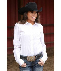 Womens Classic Fit Cinch Solid White