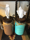 Mason jar tissue holder/dispenser