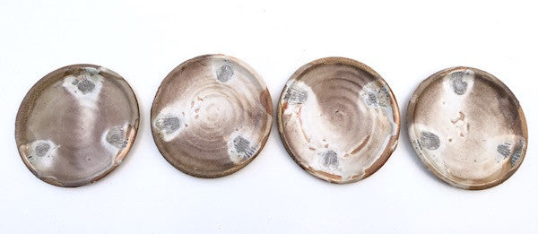 Set of 4 wood-fired plates