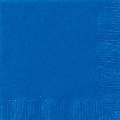 20PK 33CM 2PLY ROYAL BLUE NAPKINS