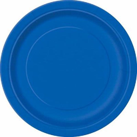 16PK 9IN ROYAL BLUE PLATES