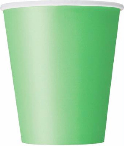 14PK 9OZ LIME GREEN CUPS