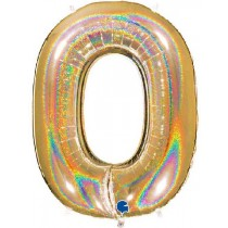 40IN NO. 0 GLITTER HOLOGRAPHIC GOLD
