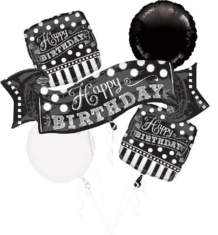 Chalkboard Birthday Balloon Bouquet