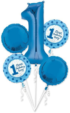 1st Birthday Boy Balloon Bouquet