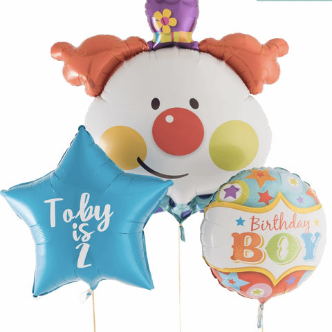 Clown Birthday Boy Personalised Bouquet - Code 00221