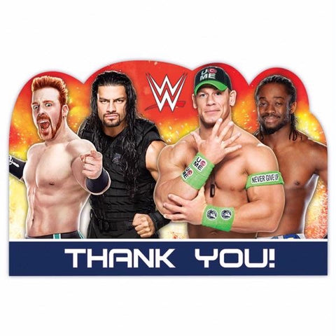 8PK WWE PARTY THANK YOU POSTCARDS