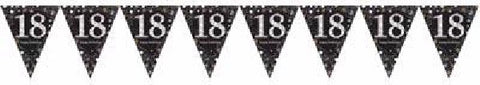 BLACK SPARKLES AGE 18 BUNTING