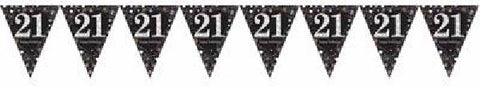 BLACK SPARKLES AGE 21 BUNTING