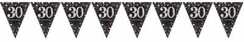 BLACK SPARKLES AGE 30 BUNTING