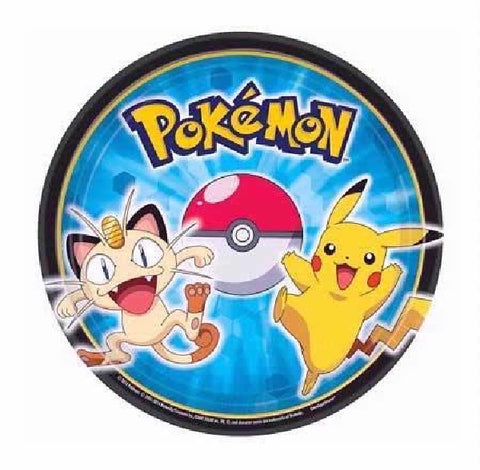 8PK 7IN PIKACHU AND FRIENDS PLATES
