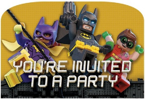 8PK LEGO BATMAN POSTCARD INVITATIONS