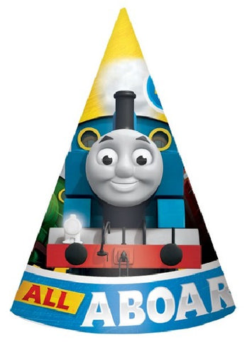 8PK THOMAS ALL ABOARD PAPER HATS