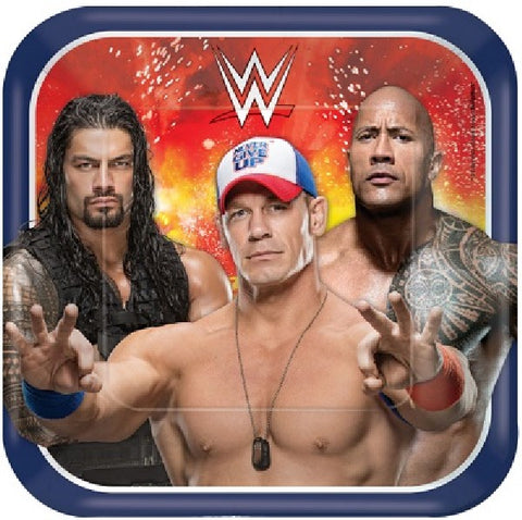 8PK 23CM SQ WWE BASH PARTY PLATES