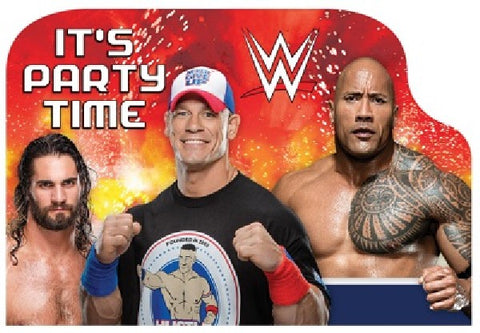 8PK WWE BASH PARTY POSTCARD INVITATIONS
