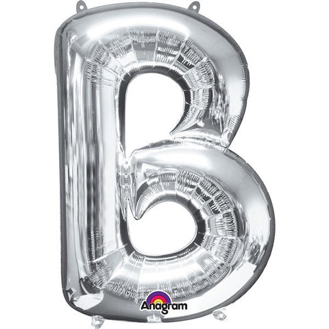 16IN SILVER LETTER B SHAPED FOIL AIR BALLOON