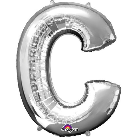16IN SILVER LETTER C SHAPED FOIL AIR BALLOON