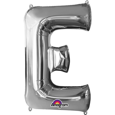 16IN SILVER LETTER E SHAPED FOIL AIR BALLOON