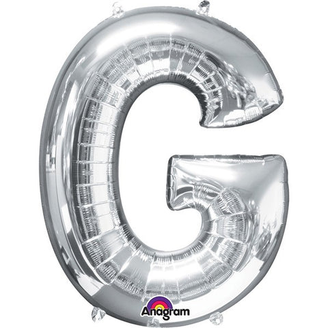 16IN SILVER LETTER G SHAPED FOIL AIR BALLOON