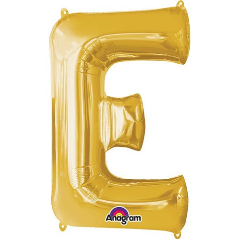 16IN GOLD LETTER E SHAPED FOIL AIR BALLOON