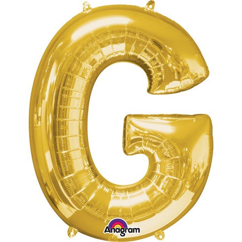 16IN GOLD LETTER G SHAPED FOIL AIR BALLOON