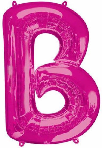 16IN PINK LETTER B SHAPED FOIL AIR BALLOON