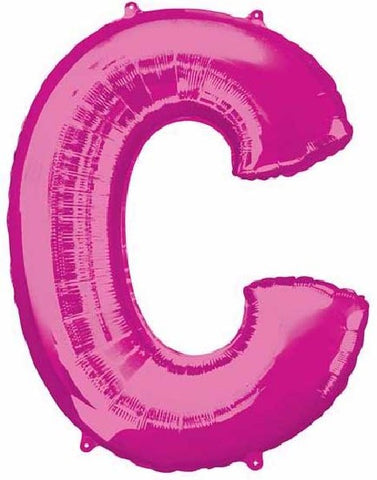 16IN PINK LETTER C SHAPED FOIL AIR BALLOON