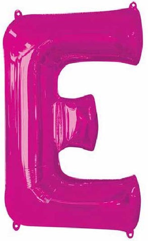 16IN PINK LETTER E SHAPED FOIL AIR BALLOON