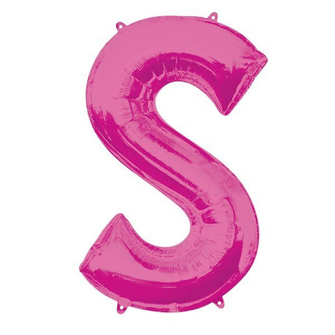 16IN PINK LETTER S SHAPED FOIL AIR BALLOON
