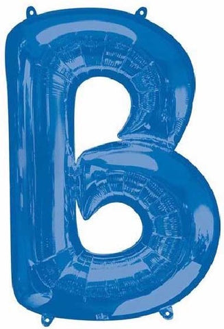 16IN BLUE LETTER B SHAPED FOIL AIR BALLOON
