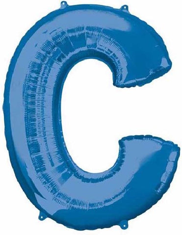16IN BLUE LETTER C SHAPED FOIL AIR BALLOON