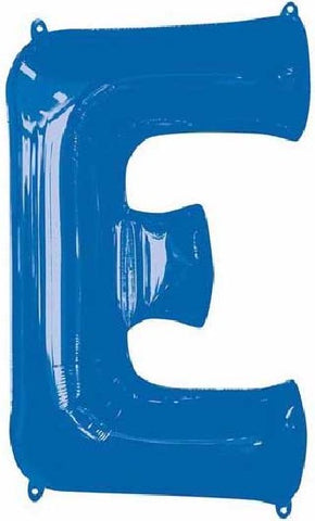 16IN BLUE LETTER E SHAPED FOIL AIR BALLOON