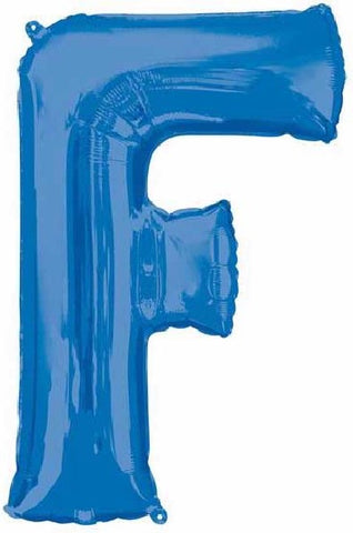 16IN BLUE LETTER F SHAPED FOIL AIR BALLOON