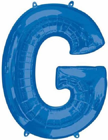 16IN BLUE LETTER G SHAPED FOIL AIR BALLOON