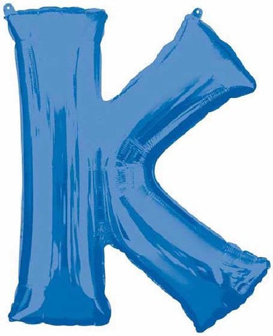 16IN BLUE LETTER K SHAPED FOIL AIR BALLOON