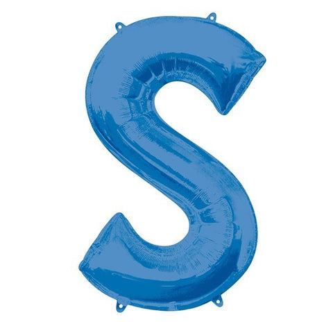 16IN BLUE LETTER S SHAPED FOIL AIR BALLOON