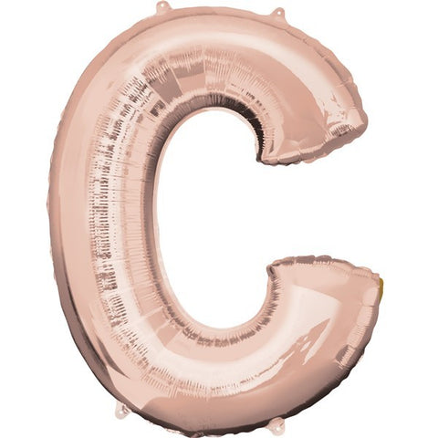16IN ROSE GOLD LETTER C SHAPED FOIL AIR BALLOON