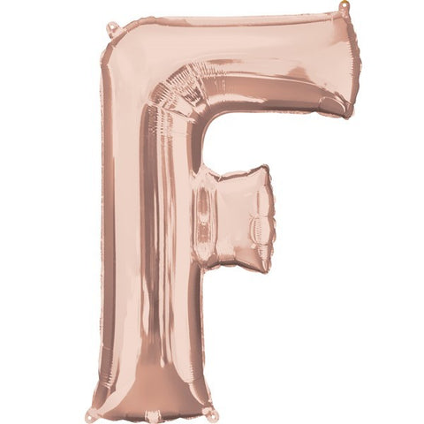 16IN ROSE GOLD LETTER F SHAPED FOIL AIR BALLOON