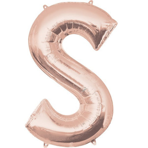 16IN ROSE GOLD LETTER S SHAPED FOIL AIR BALLOON