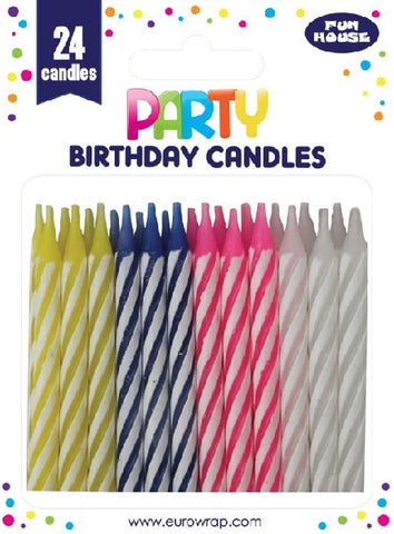 CANDLE 24PC MULTICOLOUR