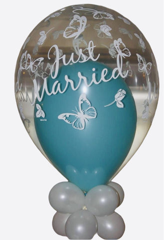 Just Married 'Wedding' Balloon Bouquet - Code 00195