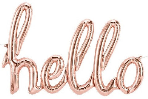 AIR BALLOONS ROSE GOLD HELLO SCRIPT