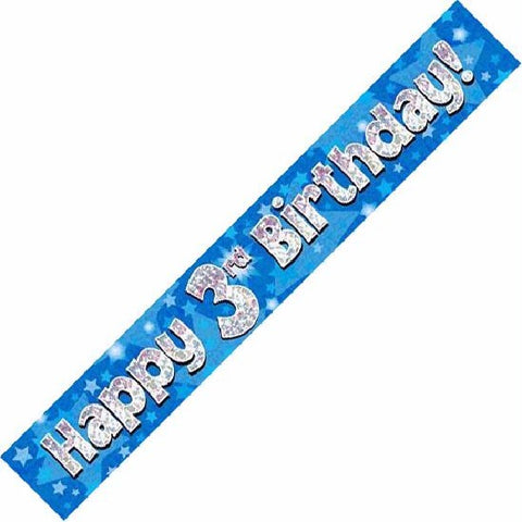 BANNER FOIL 3RD BIRTHDAY BLUE