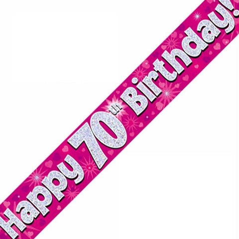 FOIL BANNER 70TH BIRTHDAY