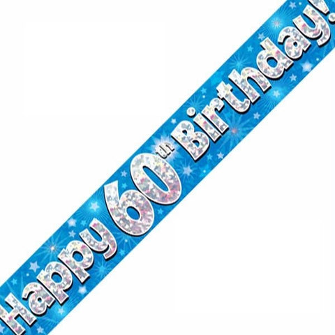 FOIL BANNER 60TH BIRTHDAY